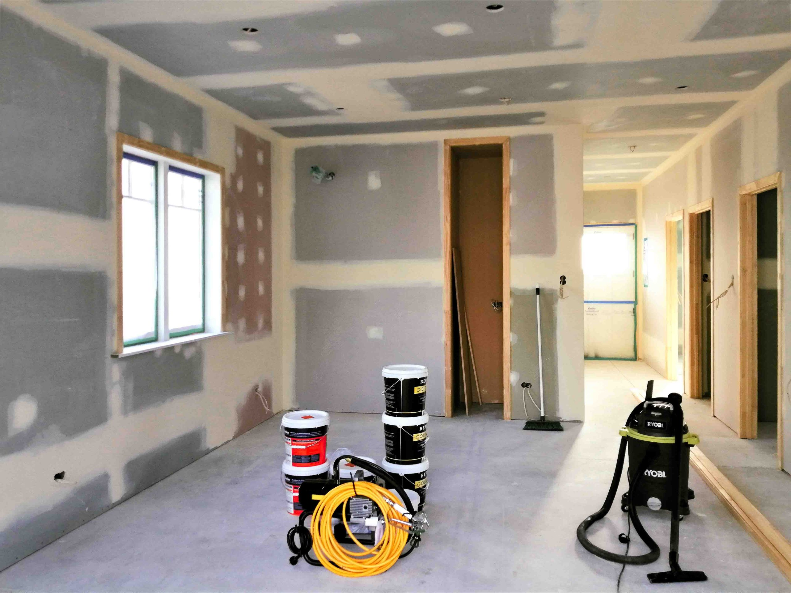 Interior painting of the living room