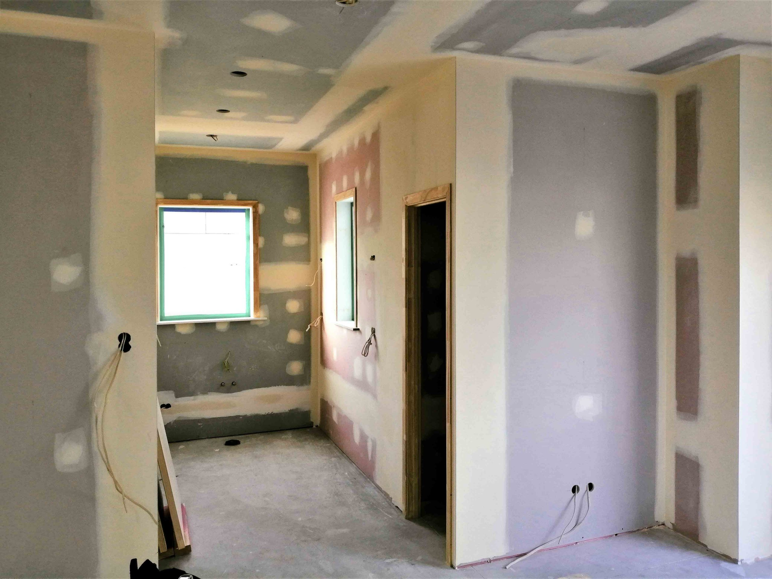 Interior painting of the kitchen