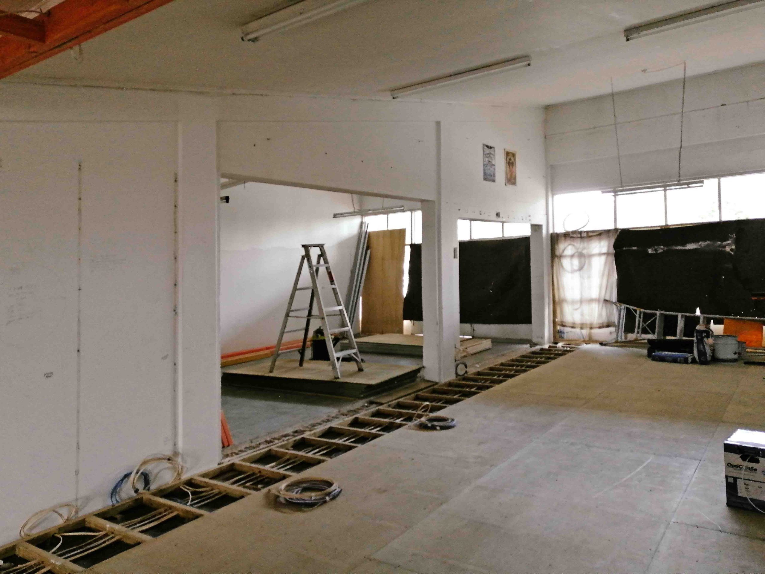Commercial space before interior painting
